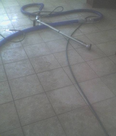 how to clean tile grout residue